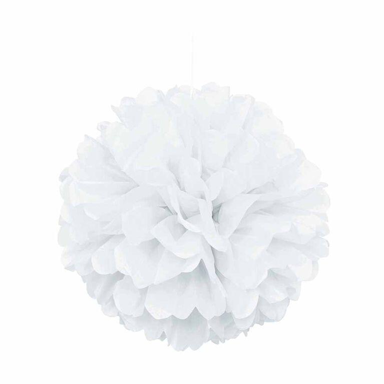 """Blanc 16"""" Boule Decorative"""