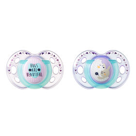 Tommee Tippee Closer to Nature 2-Pack 18-36m Night Time Pacifier - Purple/Teal