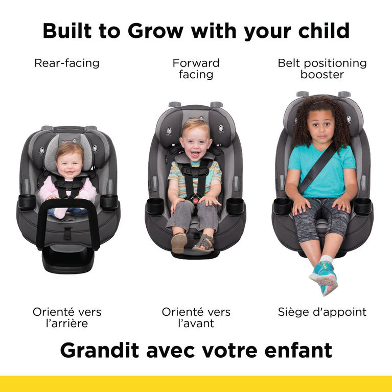 Siège d'auto 3 en 1 Grow and Go + barre antirebond  de Safety 1st - Shadow - Notre exclusivité