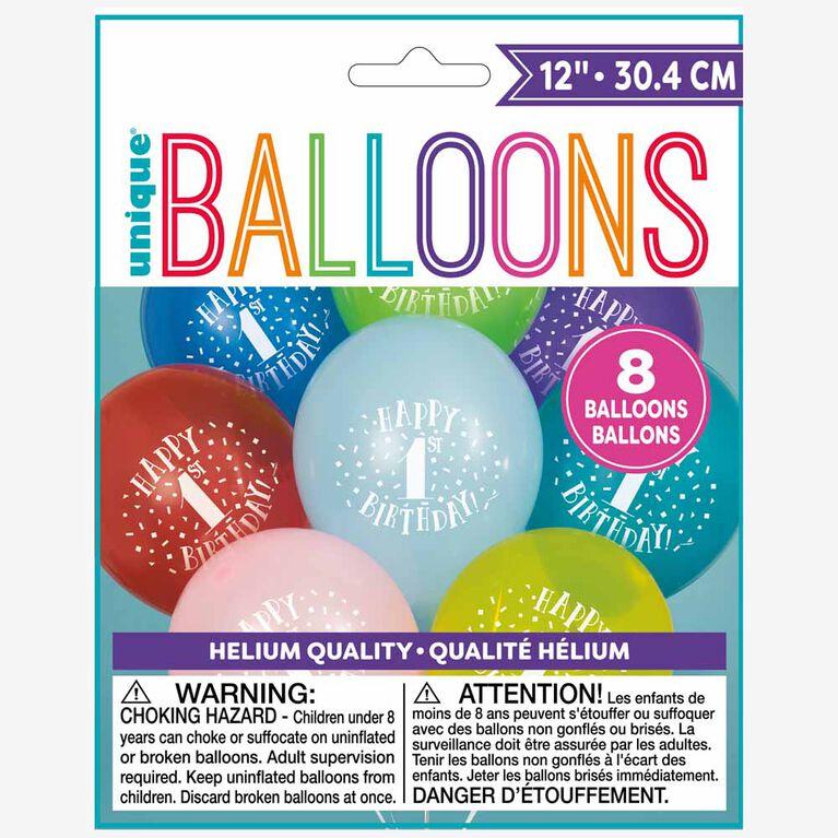 8 Balloons 12 Po - Bonhomme Sourire (Jaune) - Édition anglaise