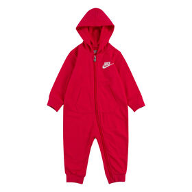 Nike French Terry Coverall - Pink, Size 12 Months