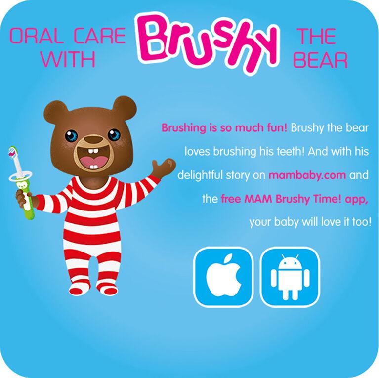 MAM Baby's Brush, 6+ Months, 2-Count, Girl