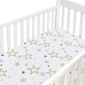 Dream Crib Sheet - Golden Stars