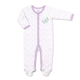 Koala Baby All Over Print Purple Butterfly Sleeper, Newborn