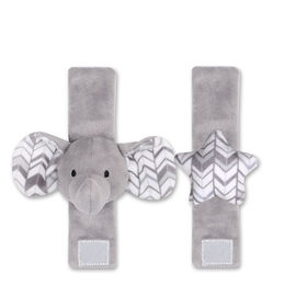 The Peanut Shell 2-Pack Wrist Rattles - Elephant and Star