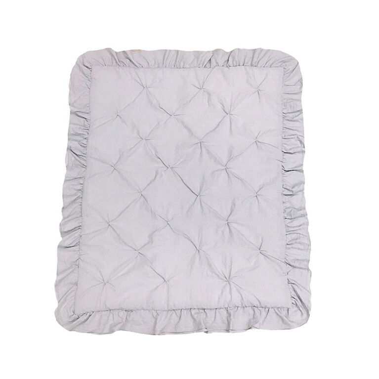 Koala Baby - Grey Pintuck Quilt With Ruffle 30X40