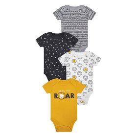 PL Baby Safari  Diaper Shirts 4pk Golden Yellow NB