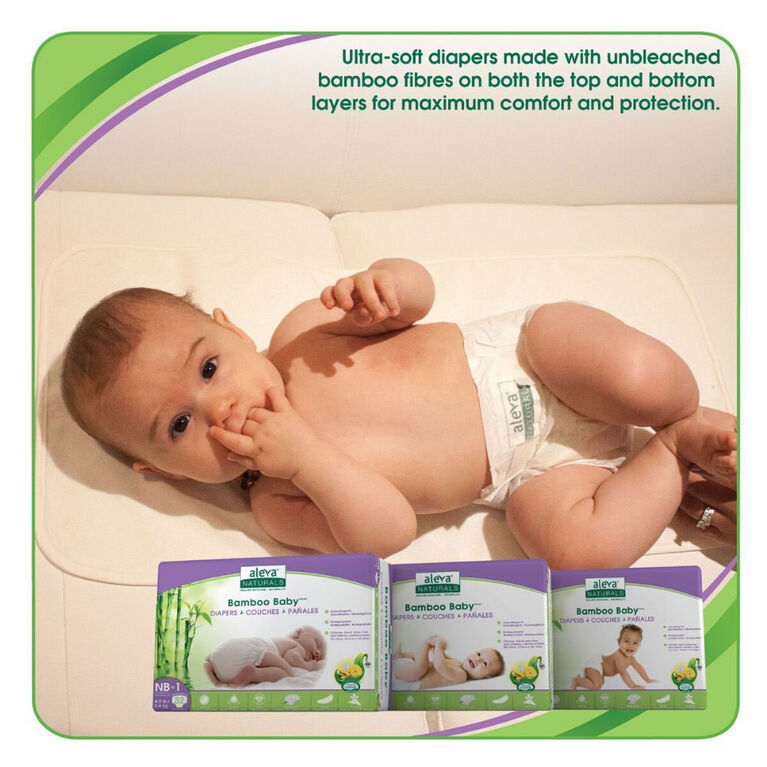 Aleva Naturals Bamboo Baby Couches - nouveau-né à taille 4 ( 20-30lbs/9-13kg) - 26 format.