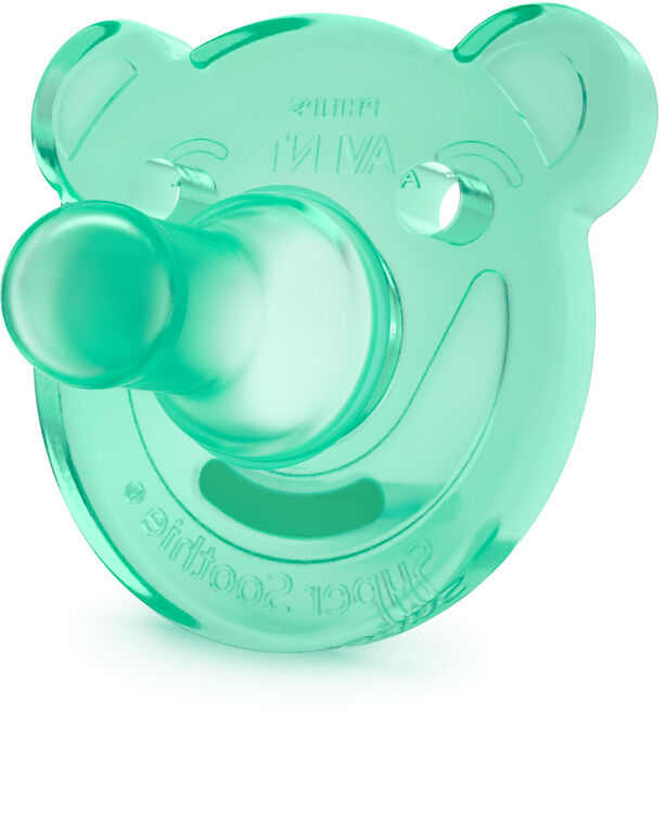 Philips AVENT Suce SoothieShapes à 3m+, Paquet de 2 - bleu/vert<br>Orthodontiques et sans BPA, Paquet de 2, SCF194/05.