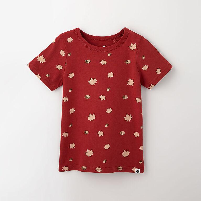 12-18m t-shirt imprimé à manches courtes - rouge