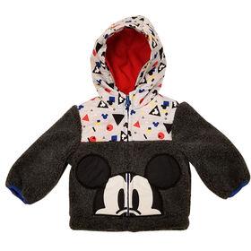 Veste en sherpa Mickey Mouse pour bébé garçon 24 mois