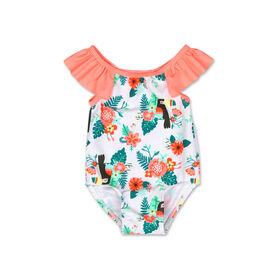 Koala Baby 1Pc Swimsuit Coral Toucan Print, 3-6 Months