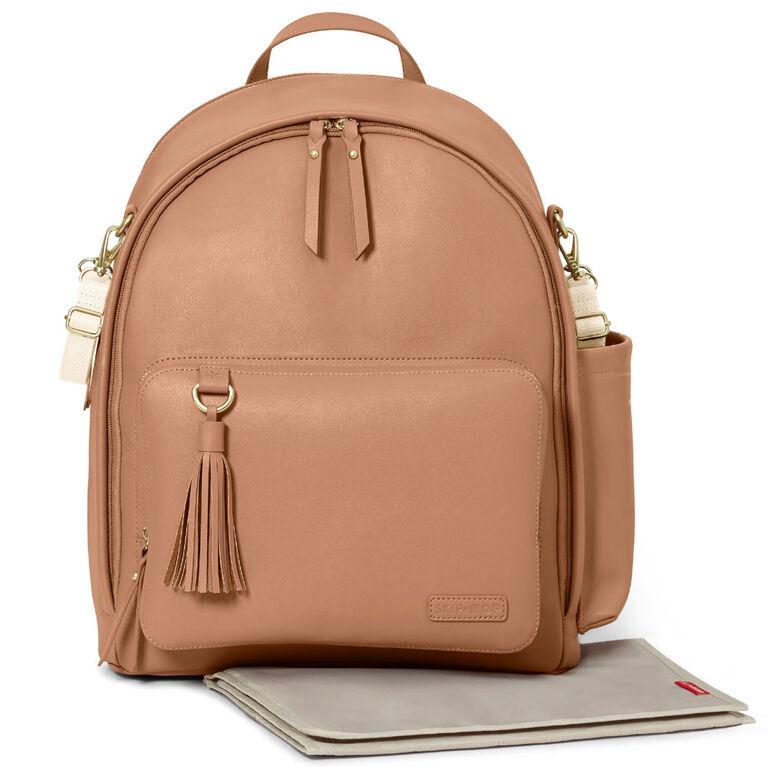 Skip Hop GREENWICH Simply Chic Diaper Backpack - Caramel