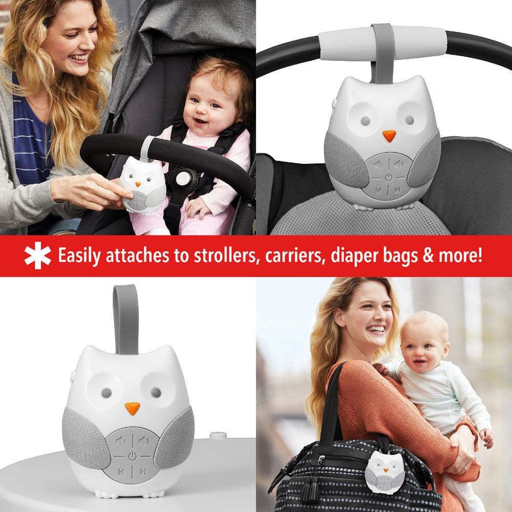 Owl Skip Hop Stroll and Go Portable Baby Soother