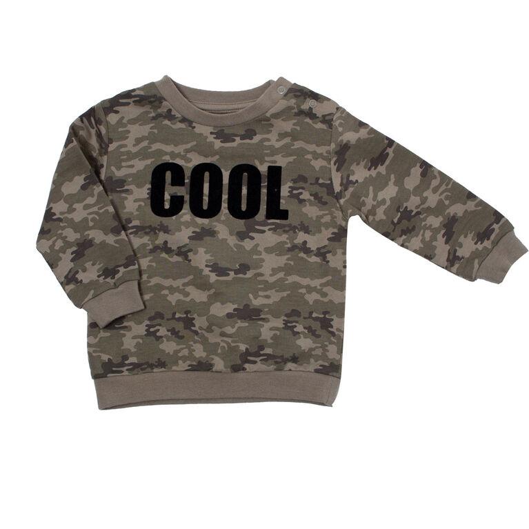 Koala Baby Boys Cotton French Terry Sweatshirt Camouflage Print 'Cool' 9-12M