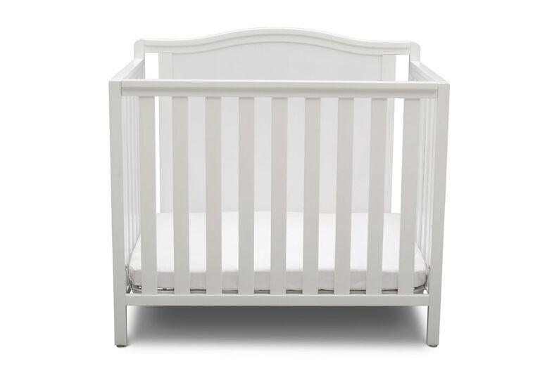 Delta Children Willow Mini Crib With Mattress And 2 Sheet