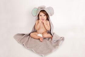 Serviette bébé Zoocchini - Elle le Éléphant.