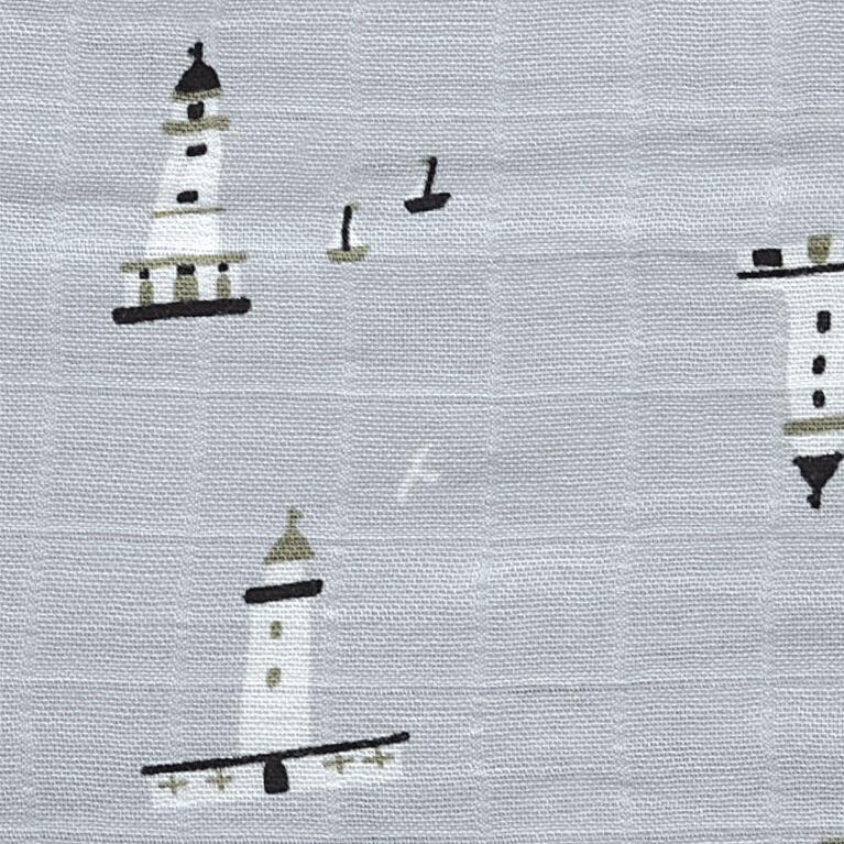 Sleepbag-Bamboomuslin-Allover Lighthouse (1 Tog) 18-36 Months