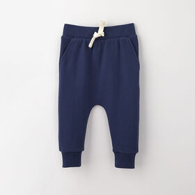 drop-crotch cozy sweats, 18-24m - dark blue