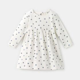 long sleeve too cute twirl dress , size 18-24m - Navy