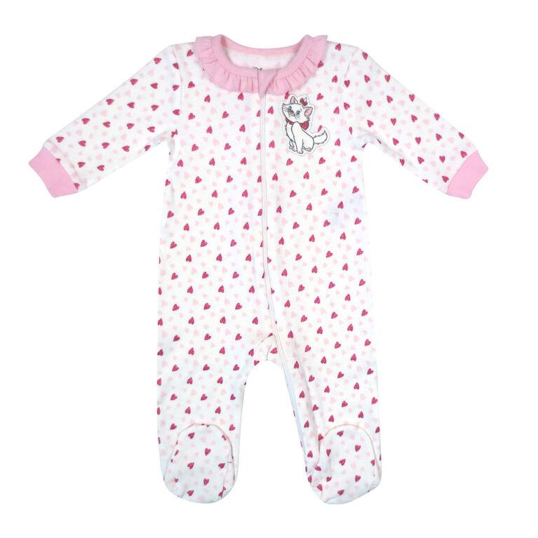Disney Marie 1-Piece Footed Sleeper - Pink, 3 Months