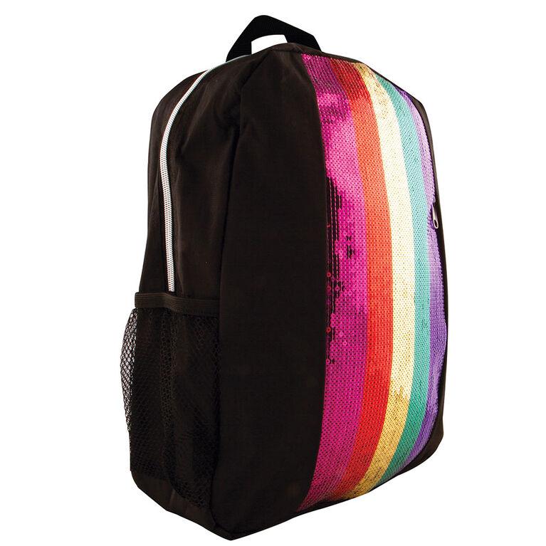 Sac à dos Rainbow Sequin Stripe Fashion Angels