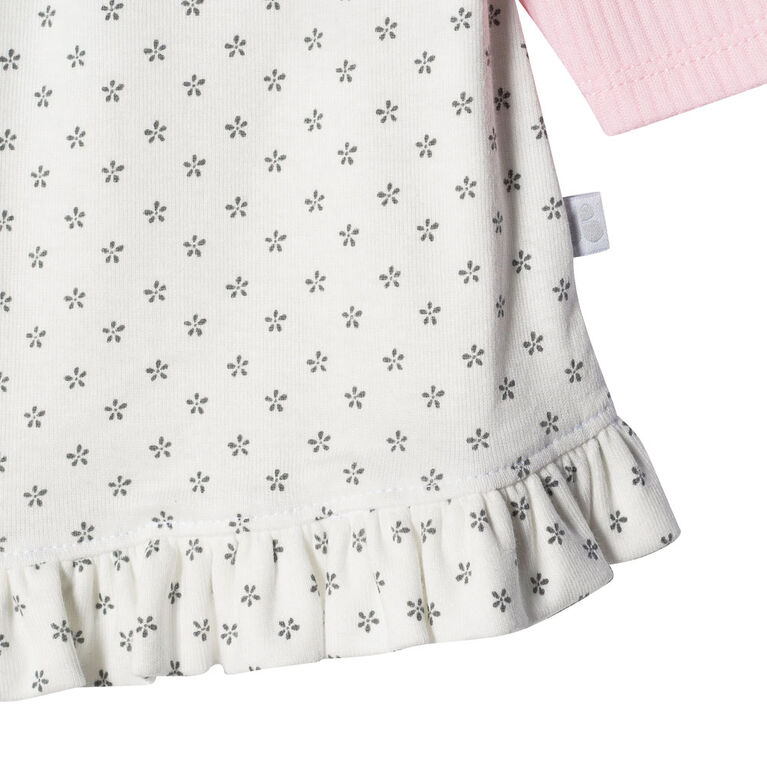 Just Born Baby Girls' 2-Piece Organic Tunic and Pant Set - Lil' Lamb 6-9 months