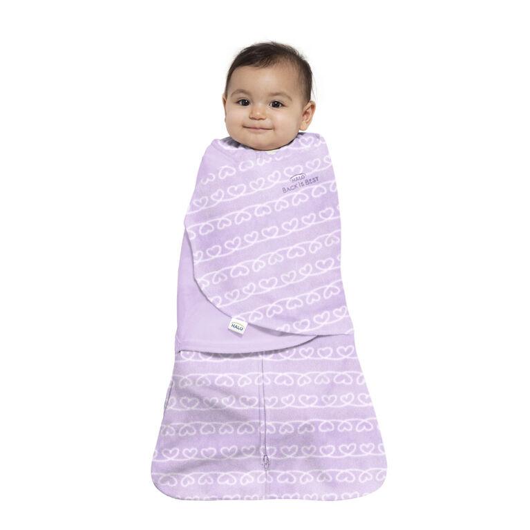 HALO® SleepSack® Swaddle Heartline Purple Small