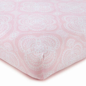 Willow Medallion Fitted Sheet - Pink