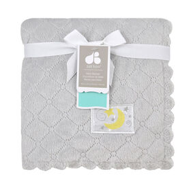 Just Born Quilted Plush Couverture - Gris.