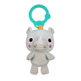 Bright Starts Take 'n Shake On-the-Go Take-Along Toy - Rhino, Ages Newborn +