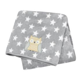 Cuddletime Starry Night Owls Fluffy Fleece Blanket