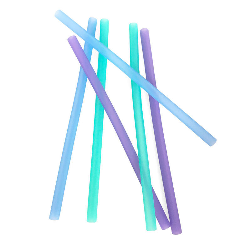 Silikids - Resusable Silicone Straws - 6 Pack - Blue Ombre
