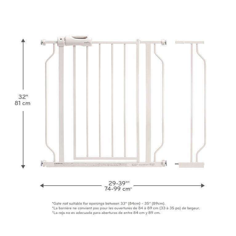 Evenflo Easy Walk-Thru Pressure-Mounted Pass-Through Gate (White)