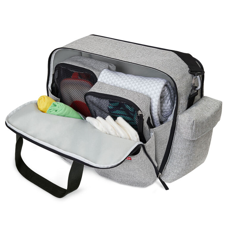Skip Hop Duo Weekender Diaper Bag - Grey Melange