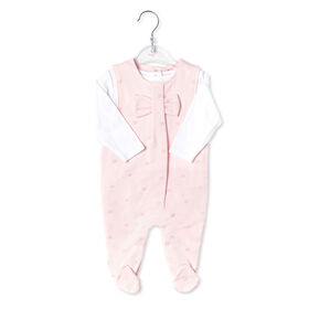 Rock a Bye Baby - Girls 2 Piece Dungaree Set : Bows - 0-3 Months
