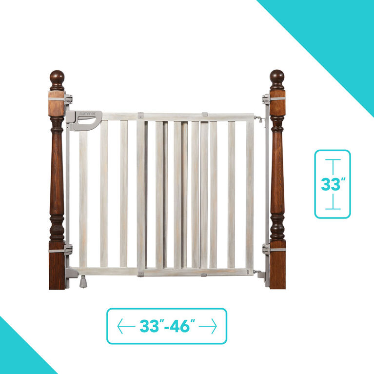 Wood Banister & Stair Gate