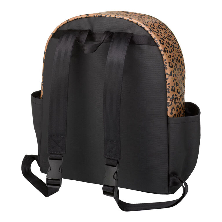 Petunia Pickle Bottom - District Backpack 5 Piece Set in Leopard - Leatherette Backpack Diaper Bag