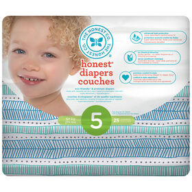 Honest Diapers Size 5 Teal Tribal