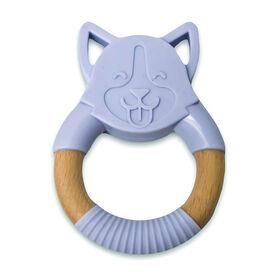 "babyworks Silicone & Beechwood Teething Ring - ""Bud"" Puppy"
