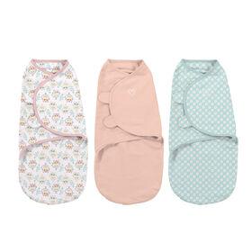 Summer Infant SwaddleMe Original Swaddle - Small/Med - 3 Pack - Hoot'n Good Time