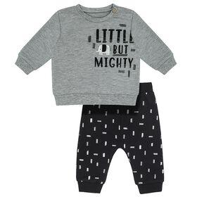 Baby 2 Mcx Ensemble pour Garcons Haut & Pantalon Jogging  - Tiny Elephant Gris, 9 Mois PL Baby