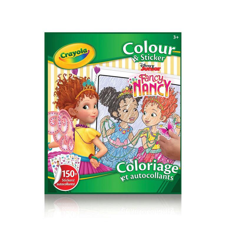 Livre à colorier et autocollants Crayola, Fancy Nancy