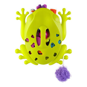 Boon Frog Pod Bath Toy Scoop, Drain & Storage - Green