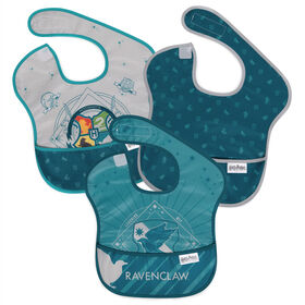 Bumkins Harry Potter SuperBib, Baby Bib, Waterproof, Washable, Stain & Odor Resistant, 6-24 Months, 3 Pack - Ravenclaw
