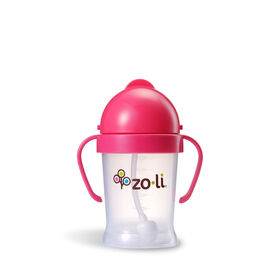 Zoli - Bot 6oz Straw Sippy Cup - Pink.