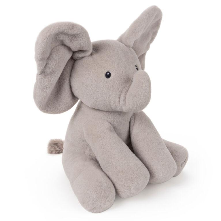 Baby GUND, Peluche animée Flappy l'éléphant, gris, 30,5 cm- Édition française