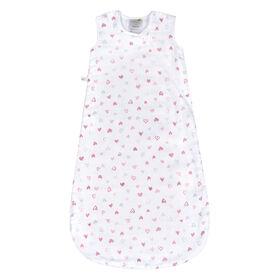 Perlimpinpin cotton muslin sleep bag - Hearts, 18-36 Months