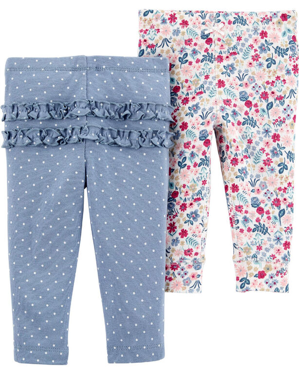 Carter's 2-Pack Cotton Pants Assorted - Newborn