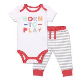 Ensemble 2pièces Koala Baby «Cool Little Dudde» - chandail à capuche et pantalon de sport, Nouveau-né